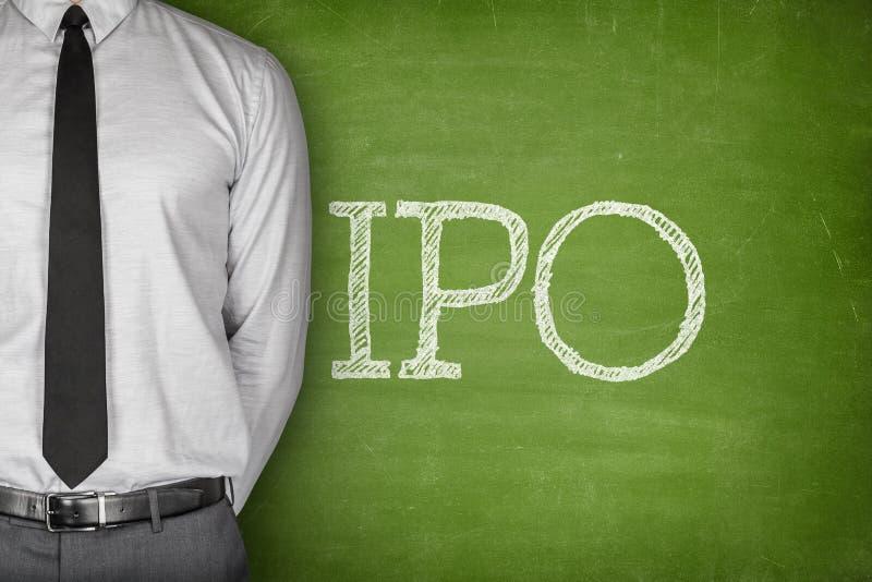 IPO o texto de la oferta pública inicial fotografía de archivo libre de regalías