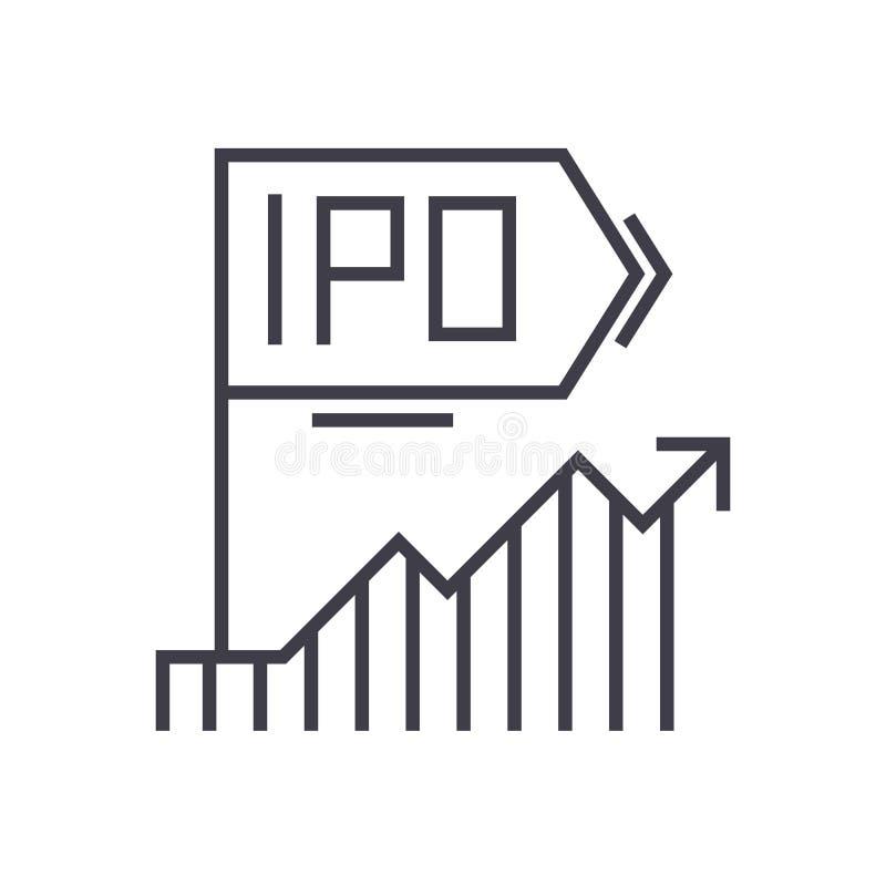 Ipo-Vektorlinie Ikone, Zeichen, Illustration auf Hintergrund, editable Anschläge vektor abbildung
