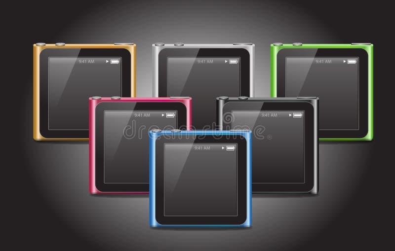 ipod του 2010 νανο διανυσματική απεικόνιση