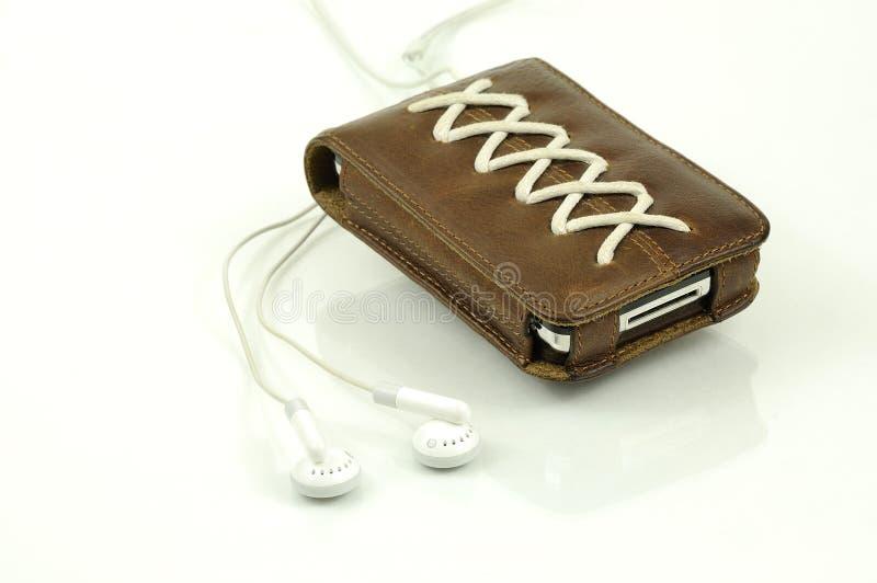 Ipod leather case stock photos