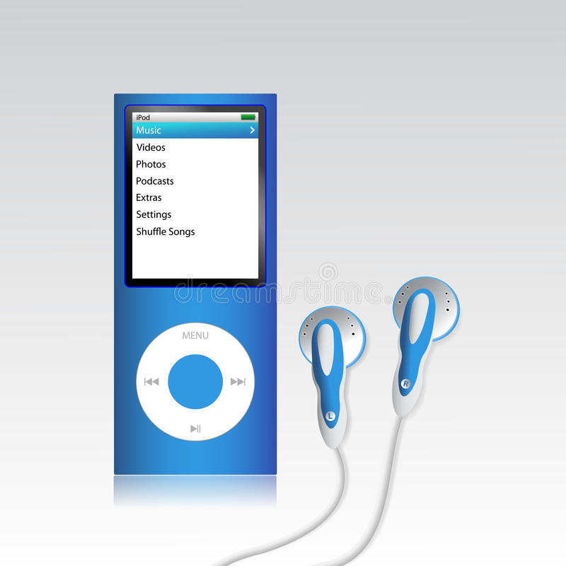 iPod Nano royaltyfri illustrationer