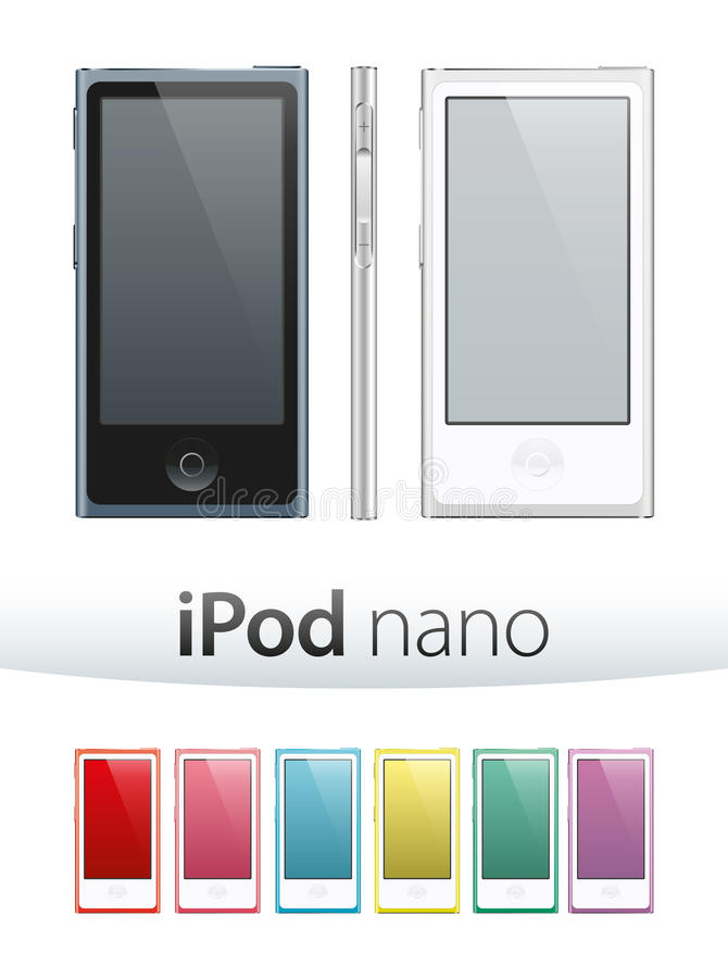 IPod Nano vektor royaltyfri illustrationer