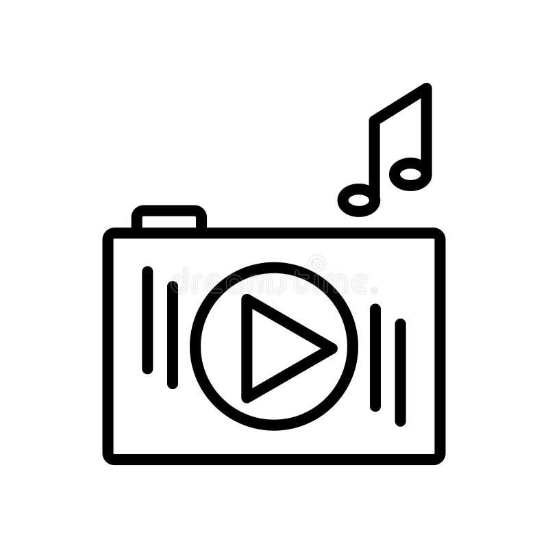 iPod Shuffle symbolsvektor som isoleras på vit bakgrund, iPod Shuf vektor illustrationer