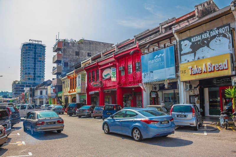 IPOH, МАЛАЙЗИЯ - 4-ое марта 2019: Улица города Ipoh Perak стоковое изображение