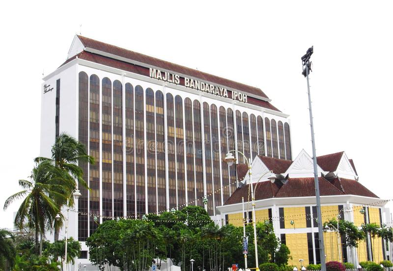 Ipoh City Council Building. Ipoh City Council or `Majlis Bandaraya Ipoh` in the local Malay language building in Ipoh, Perak, Malaysia royalty free stock photography
