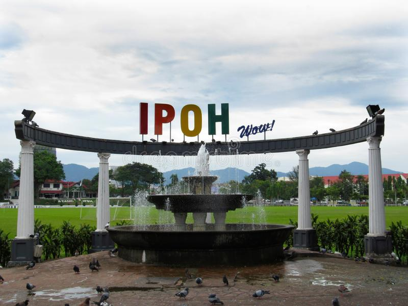 Ipoh Wow! Fountain. The Ipoh Wow! fountain at Ipoh Padang stock images