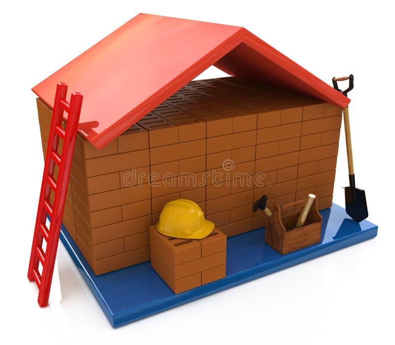 Ipoteca per costruire una casa illustrazione vettoriale