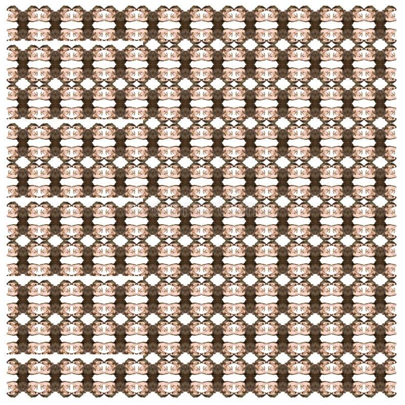 Ippopotamo, amphibius dell'ippopotamo, nel modello ripetuto royalty illustrazione gratis