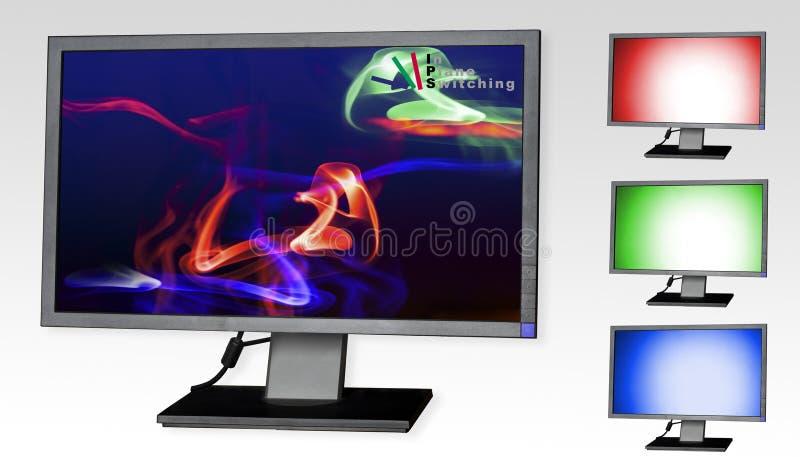 IPS-Panel LCD-Überwachungsgerät lizenzfreie stockfotos