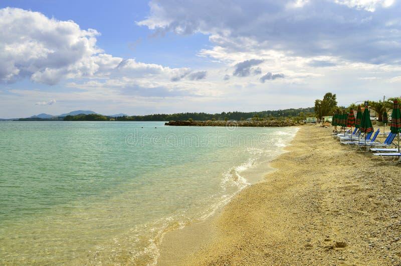 Ipsos Beach-zonlanterfanters stock afbeelding