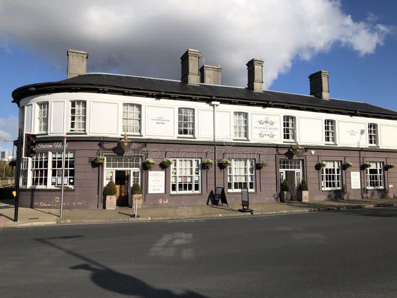 Ipswich, estación de tren en East Anglia, cafetería, restaurante imagen de archivo