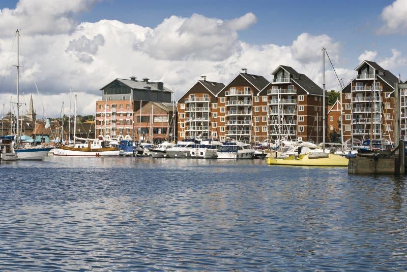 Ipswich-Jachthafen stockbild
