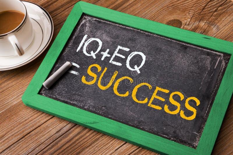 IQ plus EQ równy sukces obraz stock