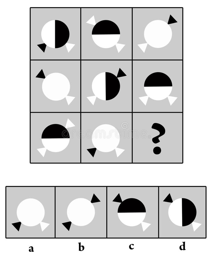 IQ-Prüfung stock abbildung. Illustration von herausforderung - 18328841