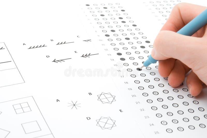 IQ test stock photo