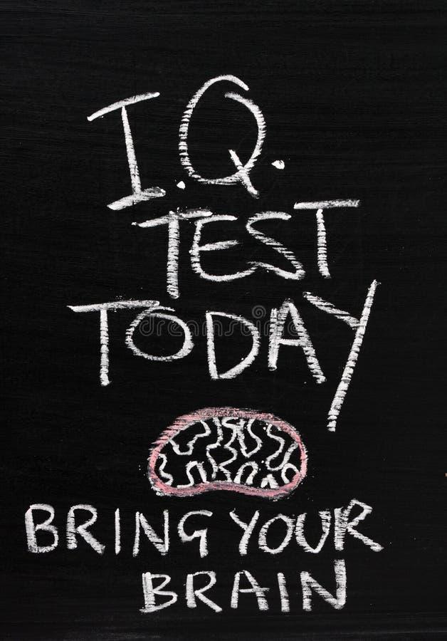 IQprov i dag royaltyfria foton