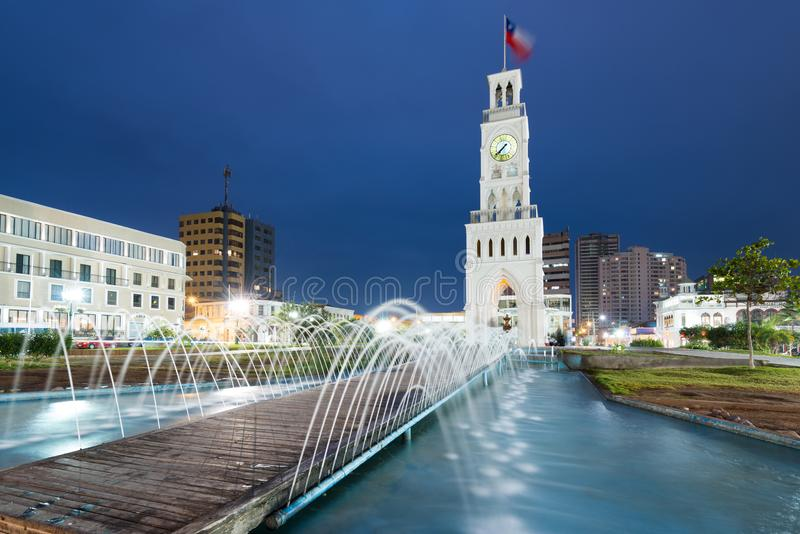 Clock tower in Iquique royalty free stock images