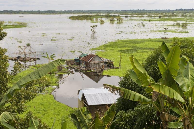 Iquitos, Περού Χωριό Amazonas στοκ εικόνα με δικαίωμα ελεύθερης χρήσης