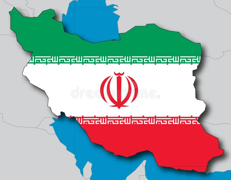 Irã ilustração stock