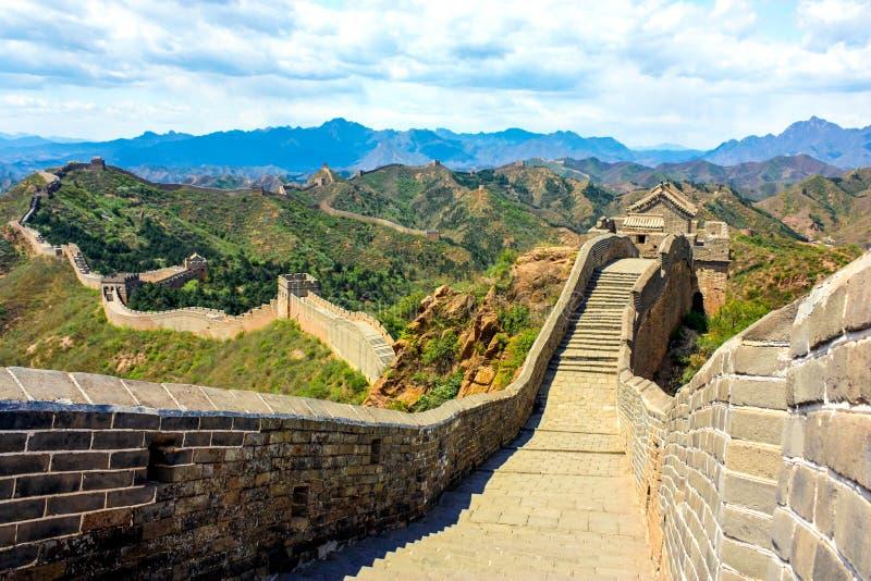 Ir de excursión la Gran Muralla fotos de archivo