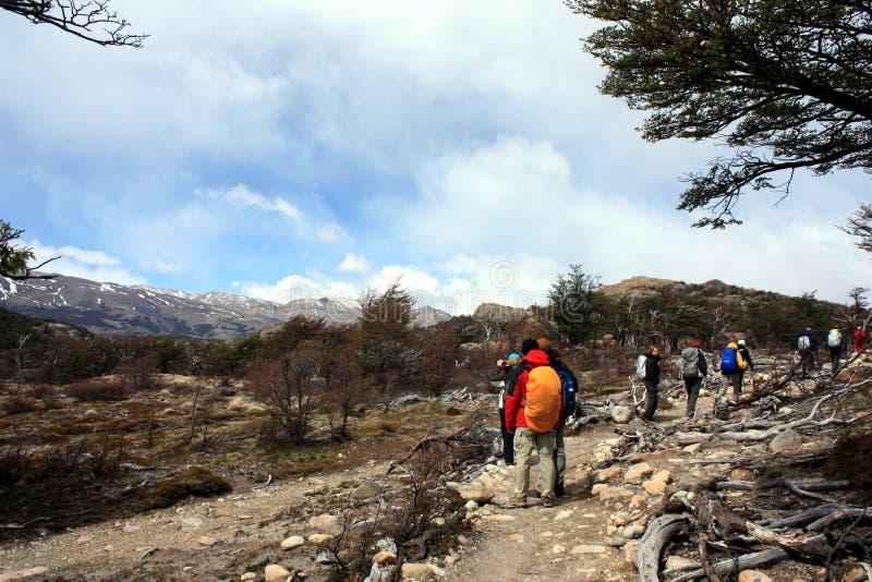 Ir de excursión patagonia imagenes de archivo