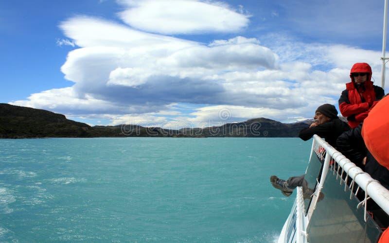 Ir de excursión patagonia fotos de archivo