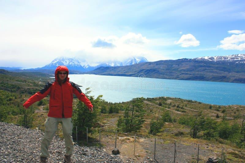 Ir de excursión patagonia fotografía de archivo