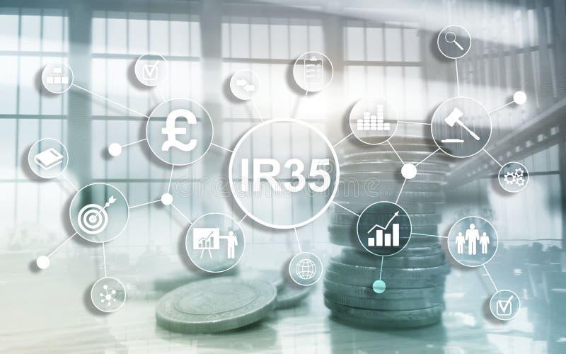 IR35-financi?nconcept De belastingwetgeving van het Verenigd Koninkrijk, belastingontwijking stock fotografie