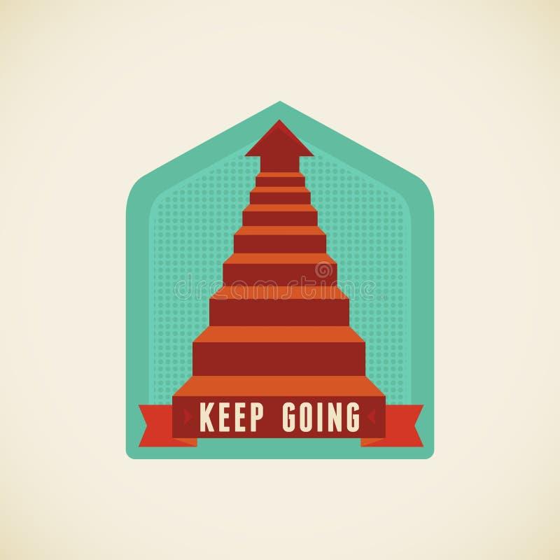 Ir Keep ilustração stock