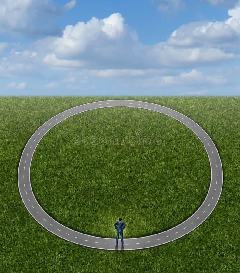 Ir nos círculos ilustração do vetor