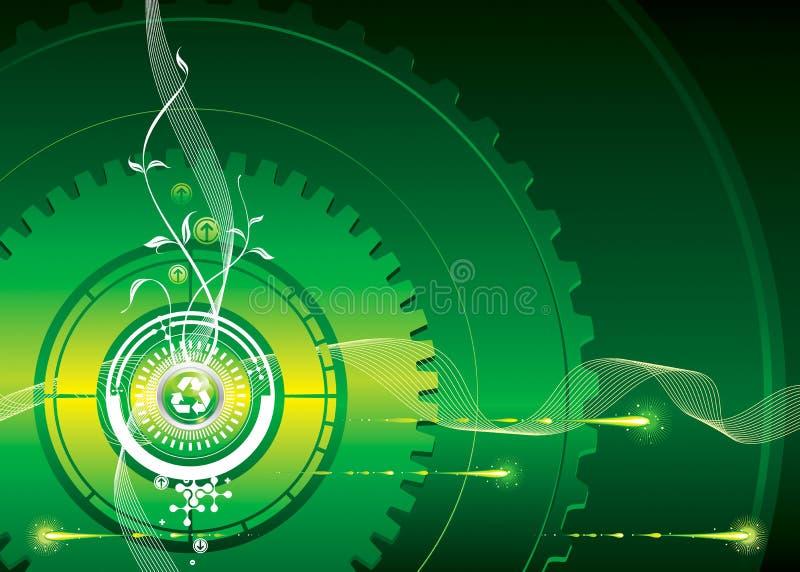 Ir-Verde ilustração stock