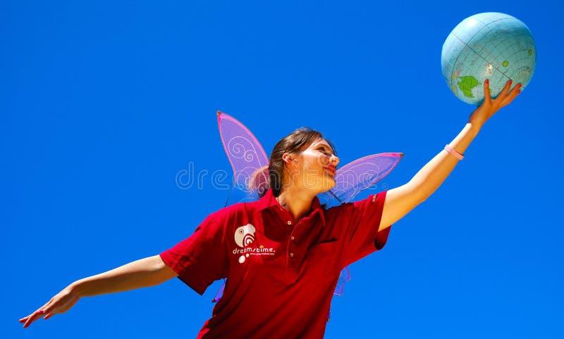 Ir volando con Dreamstime fotografía de archivo libre de regalías