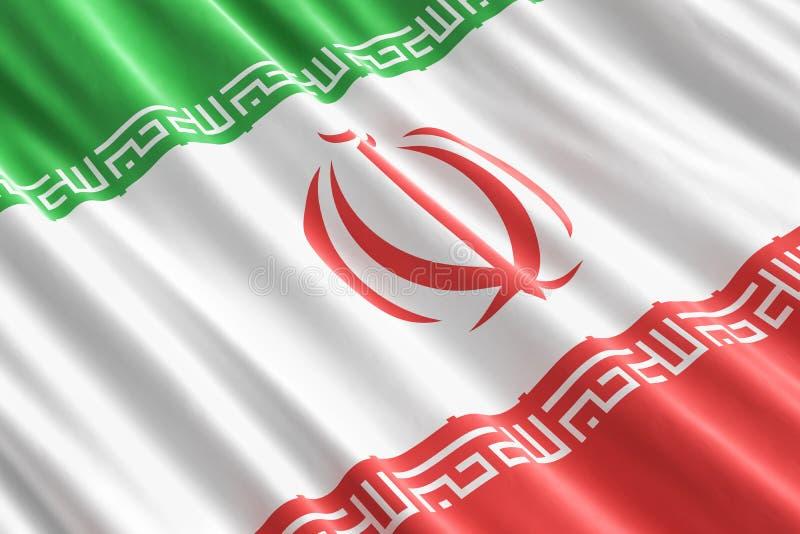 Irańczyka chorągwiany tło, 3D ilustracji