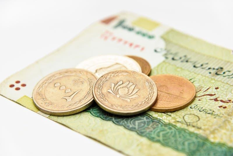 Irańska waluta Banknot i monety, riale zdjęcia royalty free