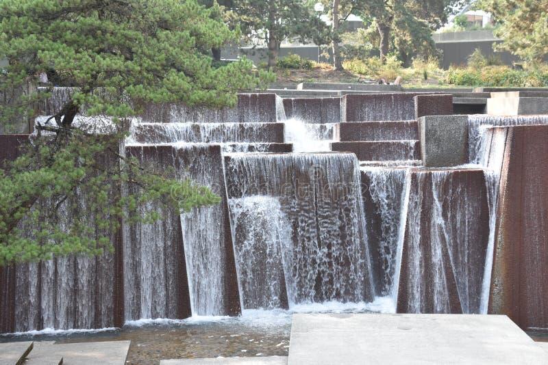 Ira克勒喷泉在波特兰,俄勒冈 库存照片