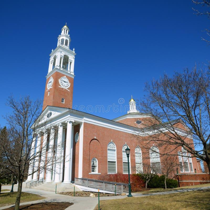 Ira Allen Chapel, Universität von Vermont, Burlington stockbild
