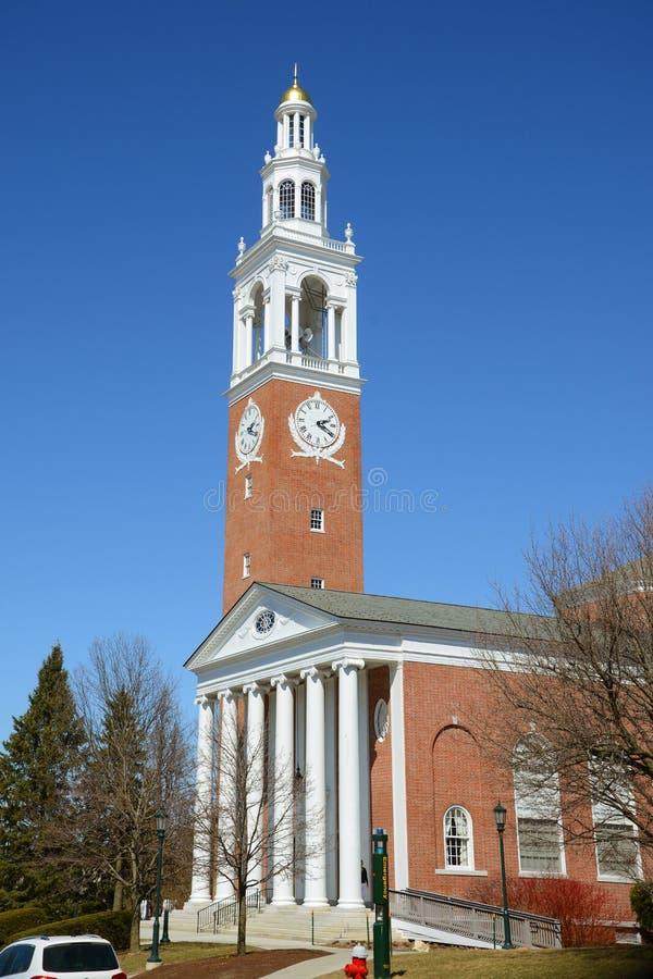 Ira Allen Chapel, Universiteit van Vermont stock afbeelding