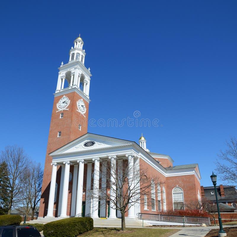 Ira Allen Chapel, UVM, Burlington, Vermont stock afbeelding