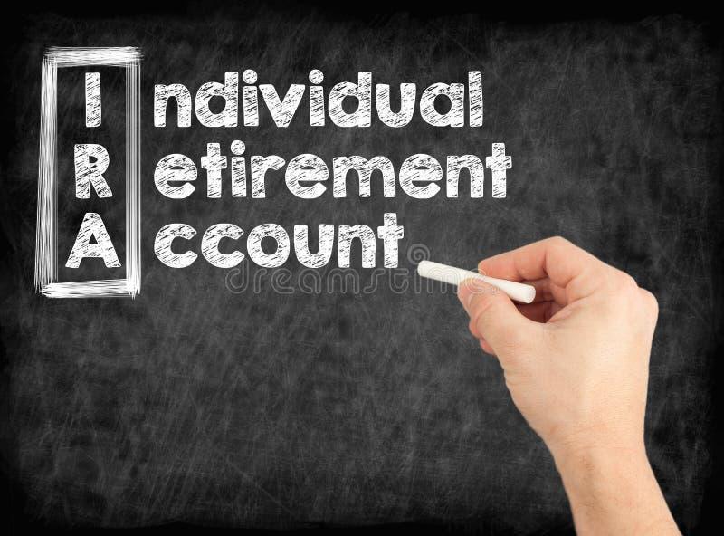 IRA - Het individuele concept van de Pensioneringsrekening stock fotografie