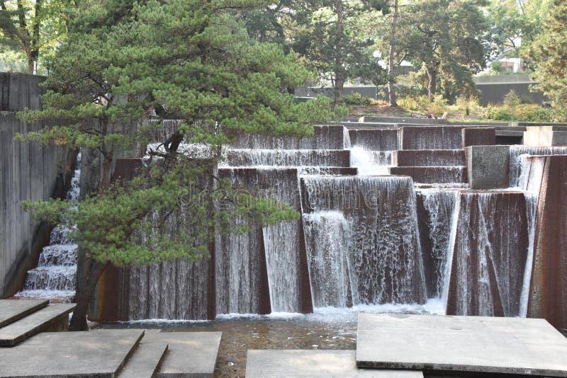 Ira Keller-fontein in Portland, Oregon stock afbeelding