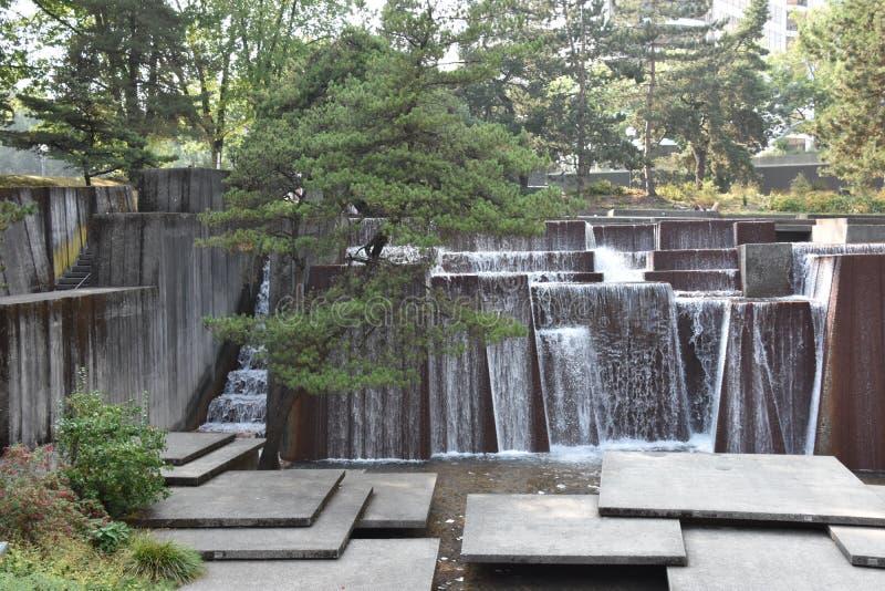 Ira Keller-fontein in Portland, Oregon stock fotografie