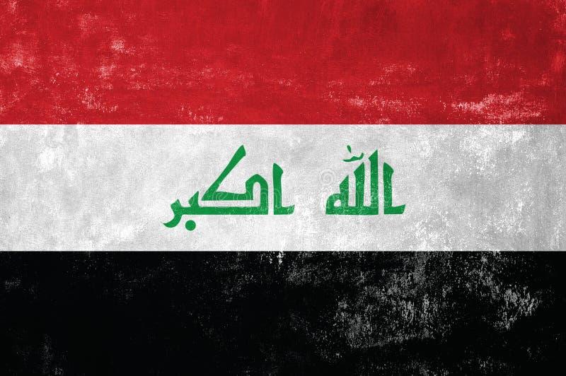 Iraakse vlag stock afbeelding