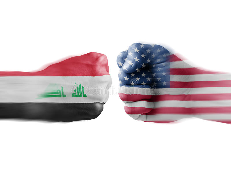 Irak x de V.S. royalty-vrije stock foto's