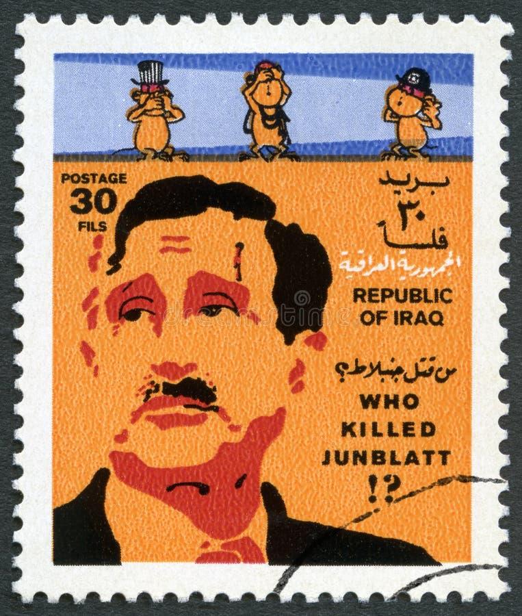 IRAK - 1977: przedstawienia Kamala Fouad Jumblatt 1917-1977, druza lider, zabijać w Libańskiej wojnie obrazy royalty free