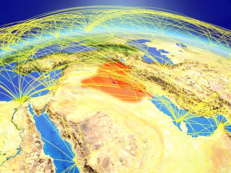 Irak ter wereld met netwerk stock fotografie