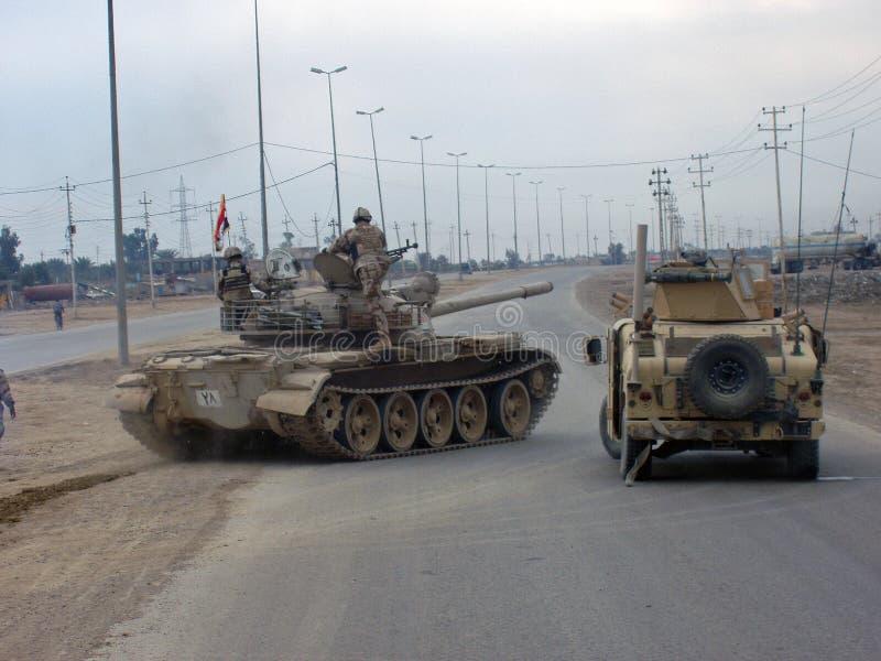 Irakischer Armee-Behälter lizenzfreies stockfoto