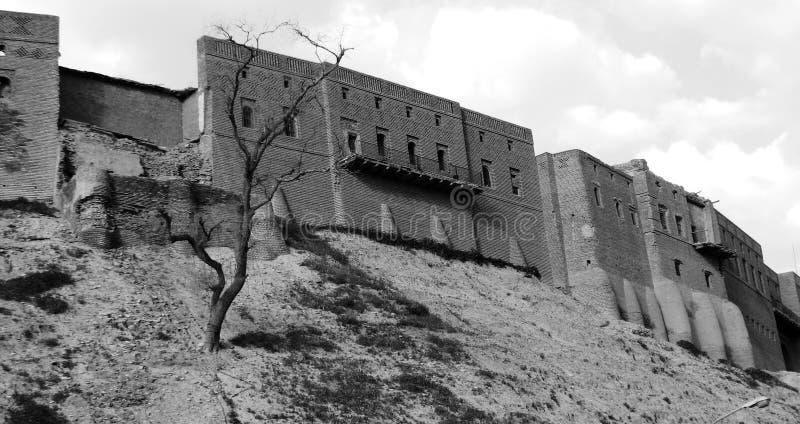Irakisk Kurdistan - Erbil citadell arkivfoton