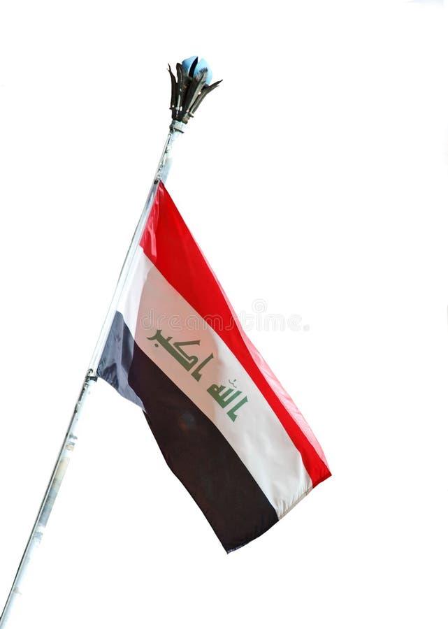 irakisk national för flagga royaltyfri bild