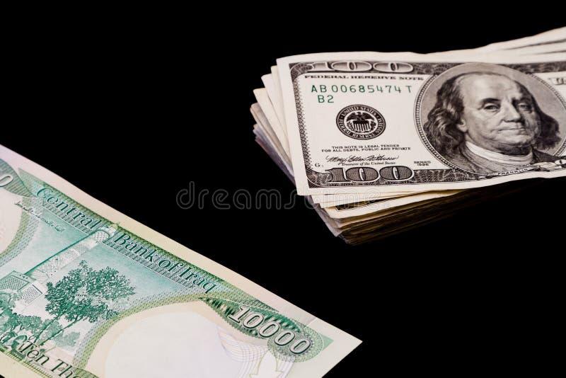 irakiska dinars royaltyfri bild