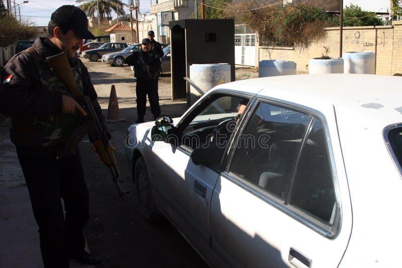 irakiska kirkuk polisar royaltyfri bild